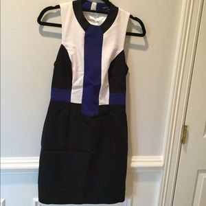 French Connection Color Blocked Dress